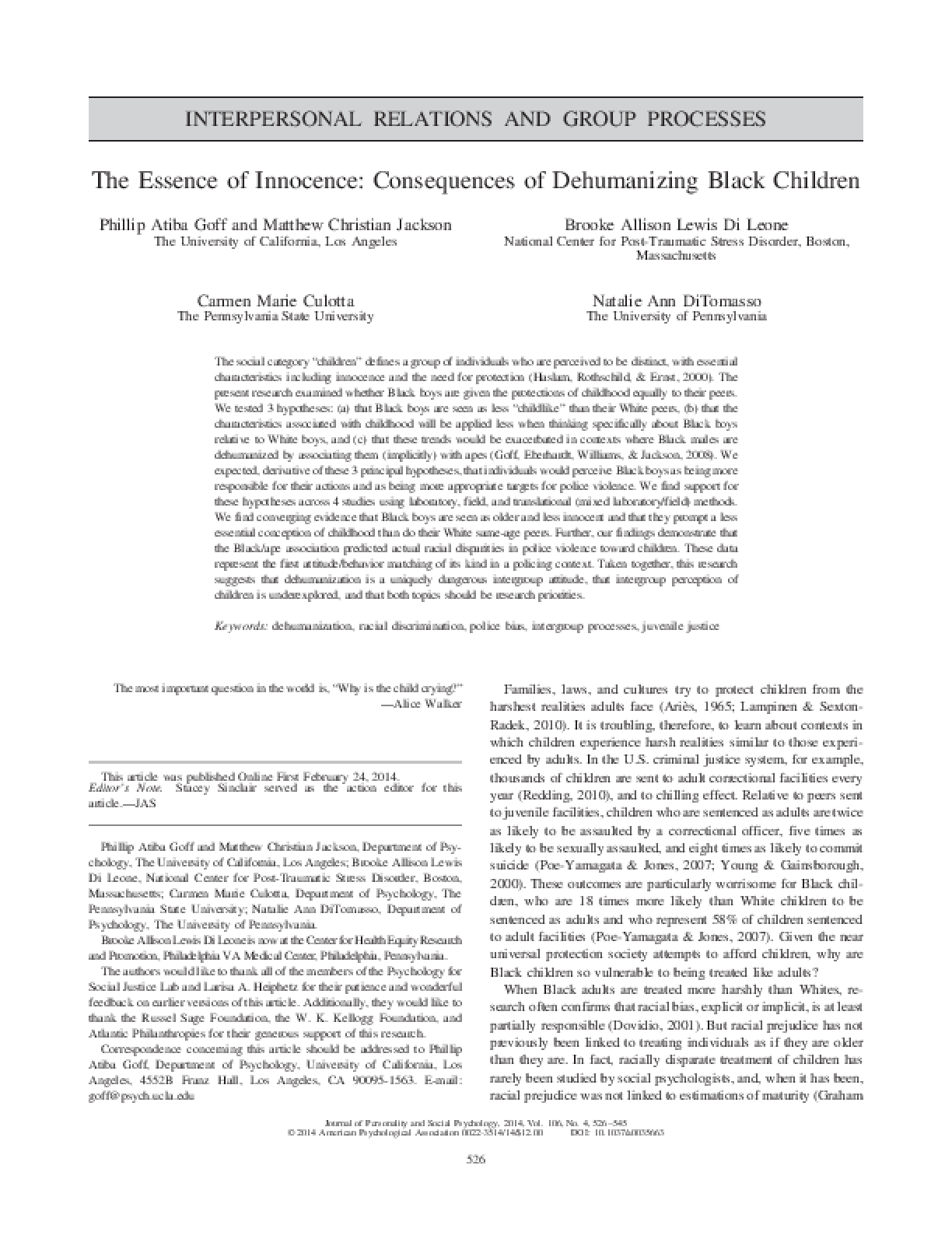 psychologists hypothesis on the penile system and its dehumanizing effects on prisoners